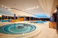 Swimming pool of Greenfield Spa Hotel Bukkfurdo, Hungary, neart to the Austrian border