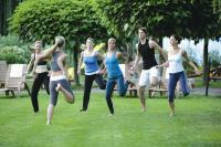 Heviz Hotel NaturMed Carbona - aerobic in the garden