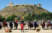 Knight's tournament near the Hotel Kapitany and the Castle of Sumeg