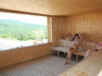 Sauna with panoramic view in Hotel Residence Ozon Matrahaza