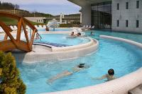 Huge outdoor pools at the Saliris Spa Thermal and Wellness Hotel